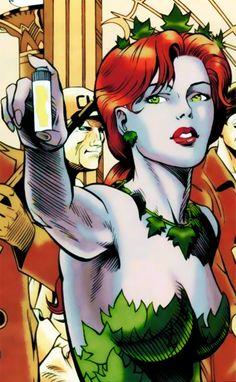 The Gotham City Sirens Poison Ivy Photos, Dc Poison Ivy, Poison Ivy Dc Comics, Comic Book Characters, Comic Books Art, Comic Art, Batgirl, Catwoman, Pamela Isley