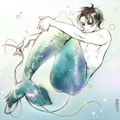 Levi as a Merman I think I'm having palpitations....