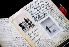Diary of Anne Frank: Copies of Anne Frank's diaries are on display at the Anne Frank museum in Amsterdam, Netherlands. (Photo Credit: ADE JOHNSON/epa/Corbis)