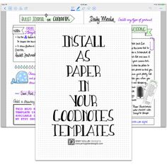 Digital Planner Pages for iPad GoodNotes Bullet Journal