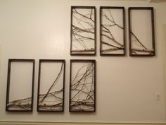 Birch Branch Rustic Art, modern, Urban via Etsy.