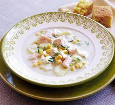 Chunky fish chowder with salmon and white fish