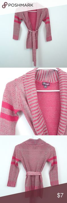 SHAMPOO GIRLS BELTED CARDIGAN SWEATER 100% acrylic Size 10-12 Shampoo Shirts & Tops Sweaters
