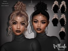 Sims Four, Sims 4 Teen, Sims Cc, Hair The Sims 4, Sims 4 Curly Hair, Sims 4 Black Hair, Sims 4 Afro Hair Cc, The Sims 4 Skin, Frizzy Hair