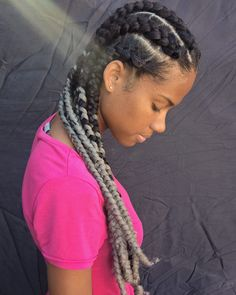 Box braid embutida gray/cinza