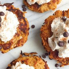 These healthy sweet potato fritters with homemade coconut whipped cream are more than delicious – they're also perfect for a gluten free, dairy free, and Paleo diet!