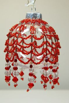 133. Beaded Ornament Cover by BeadingWolves on Etsy
