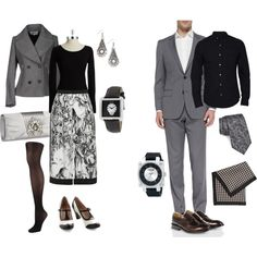 """Dinner and a movie - in black and white"" by maria-kuroshchepova on Polyvore"