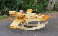 Smarty: Mecedora de madera X-Wing de Star Wars