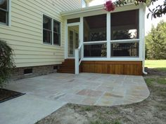 screen porch and patio