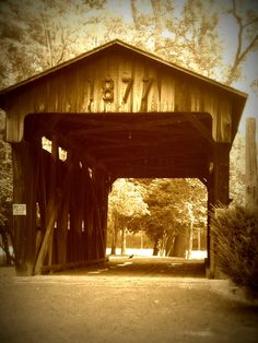 One of the old covered bridges in my town