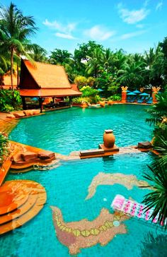Tropical Oasis in the Heart of Action, at Pattaya Marriott Resort & Spa Awesome pools is a must for a relaxing spot. Best Resorts, Hotels And Resorts, Best Hotels, Spas, Tulum, Places Around The World, Around The Worlds, Book Cheap Hotels, Cool Pools