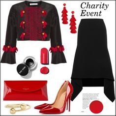 Charity Event by pat912 on Polyvore featuring Oscar de la Renta, Dion Lee, Christian Louboutin, L.K.Bennett, J.W. Anderson, BaubleBar and polyvoreeditorial