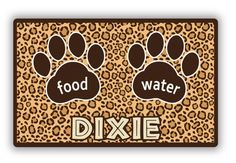 Make your pet feel like they're the king of the jungle with these chic animal print placemats!