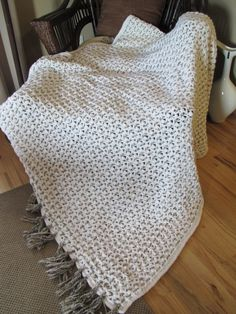 Soft and Thick Crocheted Afghan