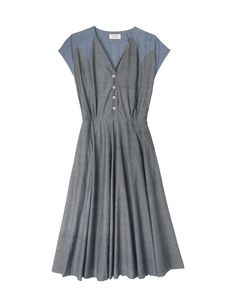 grey--loose pleating, love the bodice details