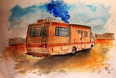 Breaking Bad by Michael Lobowake in Italy Anna Gunn, Dean Norris, Jonathan Banks, Bryan Cranston, Breaking Bad, Recreational Vehicles, Italy, Italia, Camper
