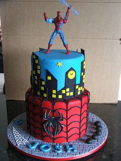Spider-man cake..my nephew would absolutely love this