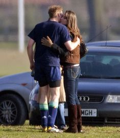 Kate Middleton Engaging in some rare PDA with Prince William in 2006.