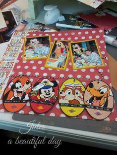 A Beautiful Day: A Little Sneak Peek and Tuesday Tunes Cruise Scrapbook Pages, Scrapbook Sketches, Scrapbooking Layouts, Scrapbook Cards, Walt Disney World Vacations, Disney Trips, Disney Love, Disney Ideas, Disney Cards