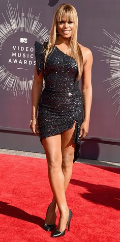 Video Music Awards 2014 Red Carpet Arrivals - Laverne Cox from #InStyle
