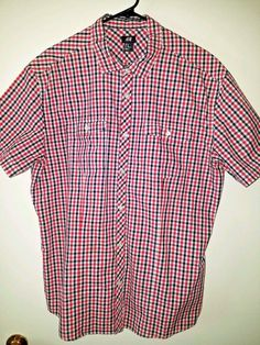 Button Down Shirt. Laundered, Ironed & Ready to Wear. H M Man, Mens Xl, Red And White, Men Casual, Plaid, Mens Tops, Shirts, Button, Sleeve