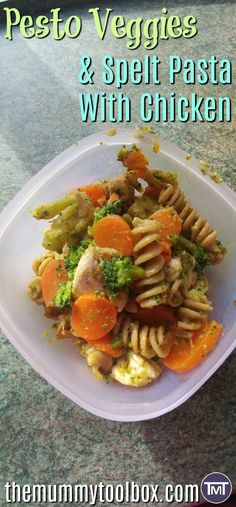 Spelt pasta is my new favourite ingredient, I'm incorporating it into meal prep with this lunch or dinner option; pesto veggies & spelt pasta with chicken. Best Pasta Recipes, Quick Recipes, Chicken Recipes, Dinner Recipes, Healthy Recipes, Spelt Pasta, Sandwiches, Recipe Cover, Easy Food To Make