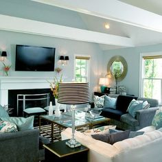 16 Best Aqua Living Rooms images in 2013   Home decor, Home ...