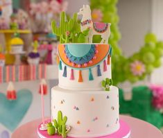 first birthday girl Pretty Cakes, Beautiful Cakes, Amazing Cakes, Fiesta Cake, Fiesta Party, Llama Birthday, Birthday Cake, Birthday Parties, Cupcakes