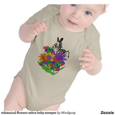 whimsical flowers zebra baby xreeper