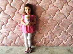 Pretty (cute) in pink and enjoying her smoothie.