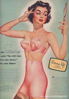 vintage ad, Permalift girdles and bras, 1951