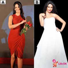 Mallika looks gorgeous in Red or White? Which look do you prefer??