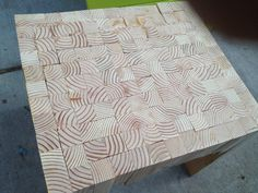 Scrap wood table...just love the look of the grains!