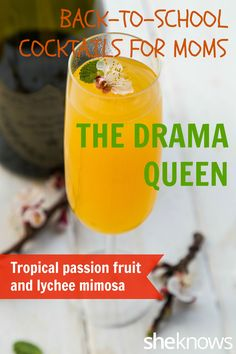 Tropical passion fruit and lychee #mimosas will up your brunch game. #cocktails #drinks #drinkrecipes #recipes