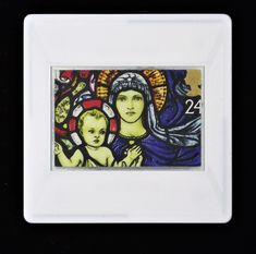 """Christmas Brooch """"Stained Glass Madonna and Child, St. Stained Glass Designs, Madonna And Child, Image Shows, Postage Stamps, Brooches, Festive, England, Window, Jewellery"""