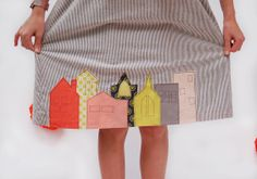 customizing with oliver + s: raw-edge house applique | Blog | Oliver + S