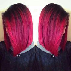 25 Magenta Haar Ideen Zum Abheben 25 Magenta Hair Ideas To Take Off Hot Pink Hair, Hair Color Pink, Hair Color And Cut, Cool Hair Color, Hair Colours, White Hair, Hair Color Balayage, Ombre Hair, Color Streaks