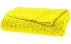 Moss Stitch Throw | 130x180cm | Bright Yellow | Aura by Tracie Ellis for $103 - MyShopping.com.au