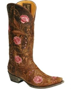 Old Gringo Julie Embellished Embroidery Cowgirl Boots - Snip Toe