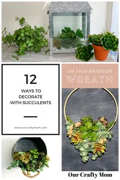12 Easy Ways To Decorate With Succulents - Merry Monday #194