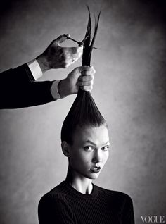 vogue:  Karlie Kloss Gets the Cut of the Moment Photo: Patrick Demarchelier See the slideshow
