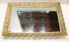 "Large Antique Victorian Vanity Mirror Tray Rectangle 16"" #Victorian Victorian Dressers, Victorian Art, Mirror Vanity Tray, Glass Vanity, Perfume Tray, Antique Vanity, Art Of Glass, Gold Filigree, Yard Sale"