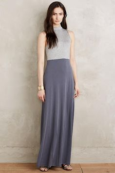 Grey Pleated Maxi Skirt with mint green top | Grey Maxi Skirt ...