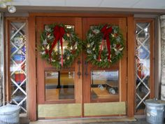 The Grand doors of the Black Bear Lodge, Waterville NH. 2012