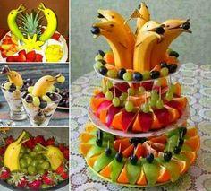 decoração com frutas