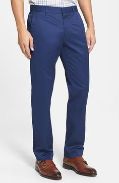 Love the cut on these slim but not skinny cotton pants.