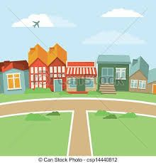 Image result for vector towns, villages, illustrations