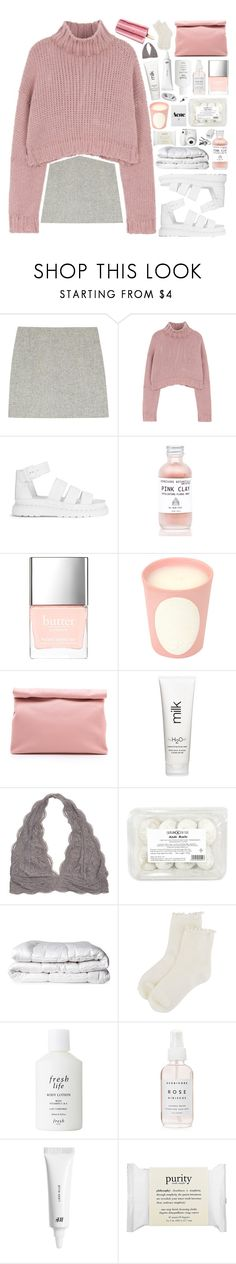 """• r o s a b e l l e •"" by when-you-listen ❤ liked on Polyvore featuring Atto, Dr. Martens, Butter London, Ladurée, Marie Turnor, H2O+, Brinkhaus, Forever 21, Fresh and H&M"