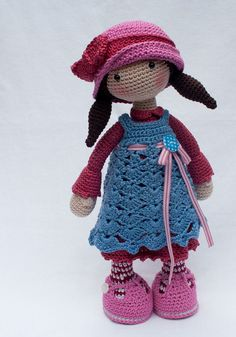 Ganchillo patrones para muñeca CELINE Deutsch por CAROcreated ♡